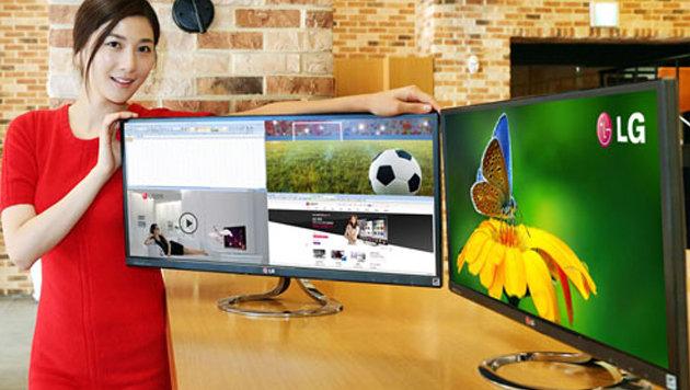 LG lässt ersten Ultra-Widescreen-Monitor vom Stapel (Bild: LG)