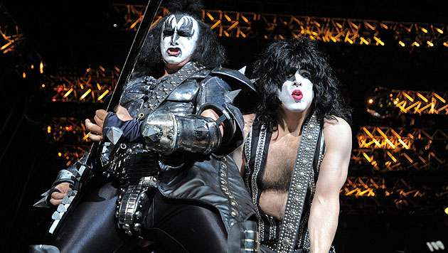 Maskenmänner Kiss rocken zum ersten Mal im Burgenland (Bild: dpa/Harald Tittel)