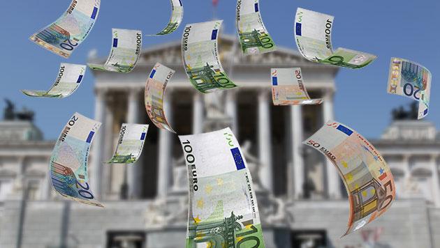 Parlamentsumbau: RH sieht Kosten von über 500 Mio. Euro (Bild: thinkstockphotos.de, Peter Tomschi, krone.at-Grafik)