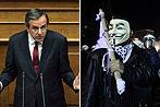 Proteste in Athen: Spar-Haushalt von Parlament gebilligt (Bild: EPA)