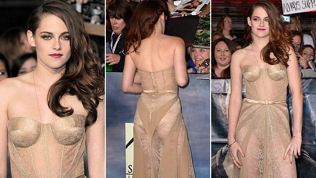 Kess: Kristen Stewart zeigt uns ihr H�schen... (Bild: dapd, AFP)