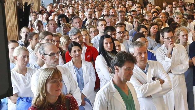 Spitalspersonal in Salzburg fordert Gehaltserhöhung (Bild: Markus Tschepp)