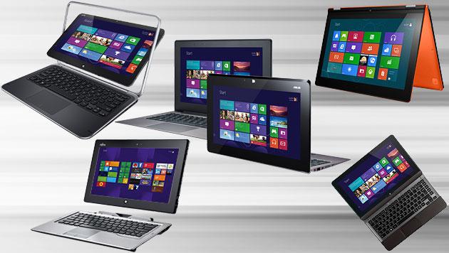 Windows-8-Geräte im ersten Tauglichkeits-Test (Bild: Hersteller, krone.at-Grafik)