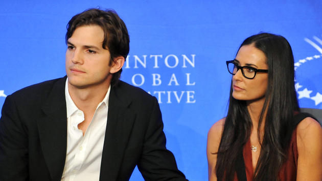 Moore und Kutcher arbeiten weiter gegen Sexhandel (Bild: AP)