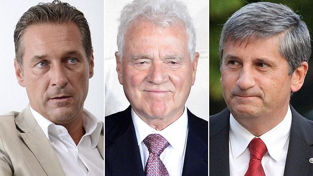 Österreich vor Koalition ÖVP, FPÖ und Stronach? (Bild: APA, EPA)