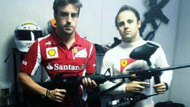 So sagt Fernando Alonso Sebastian Vettel den Kampf an (Bild: facebook.com)