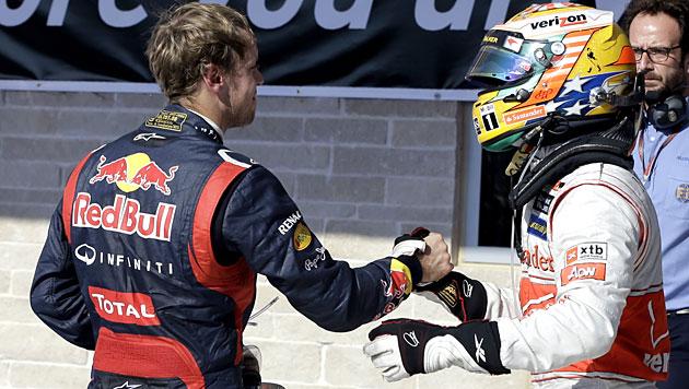 Hamilton siegt vor Vettel, Alonso wird Dritter (Bild: dapd)