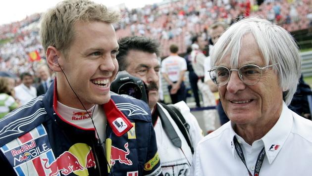 "Ecclestone: ""Vettel fehlt noch etwas Charisma"" (Bild: EPA)"