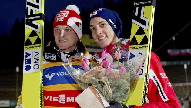 41. Weltcupsieg für ÖSV-Adler Gregor Schlierenzauer (Bild: EPA)