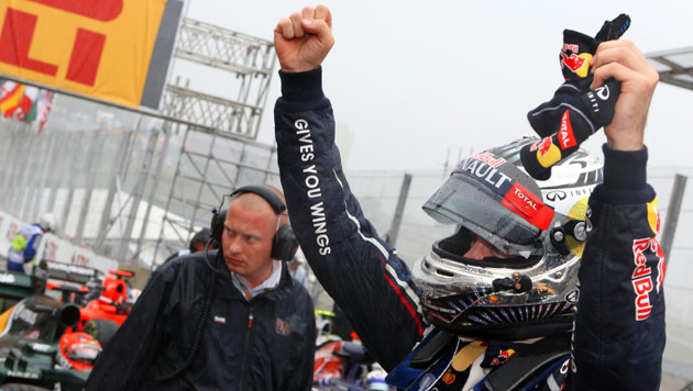 Sebastian Vettel ist wieder Formel-1-Weltmeister (Bild: EPA)
