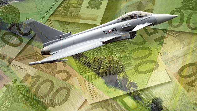 Erste Erfolge der Justiz im Eurofighter-Krimi (Bild: APA/HBF/REICH, thinkstockphotos.de, krone.at-Grafik)