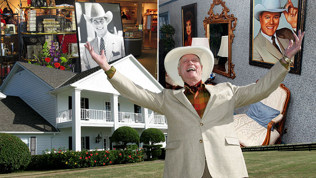 """""""Goodbye, J.R."""": Eine Pilgerfahrt zur """"Dallas""""-Ranch (Bild: AP, krone.at-Grafik)"""