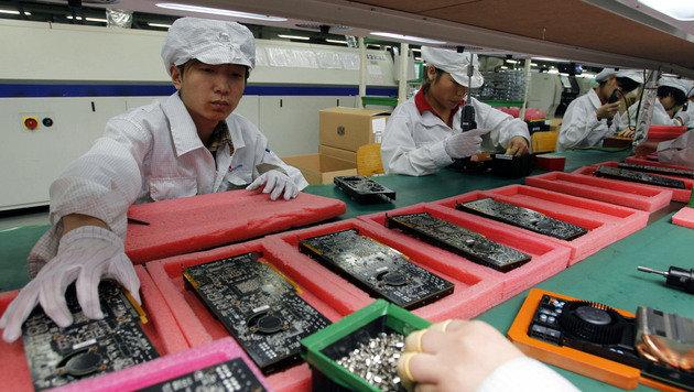 Streik bei Foxconn-Lieferant wurde mit Gewalt aufgelöst (Bild: AP)