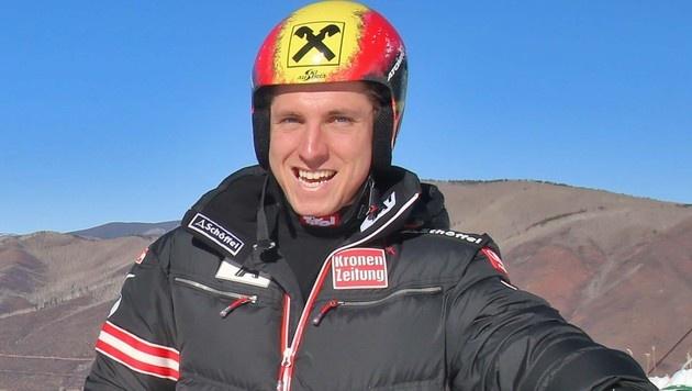 Hirscher kam mit 600 Kilo Material zu den USA-Rennen (Bild: Christof Birbaumer)