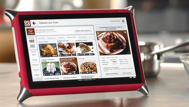Küchen-Tablet aus Frankreich soll Kochen erleichtern (Bild: QOOQ)