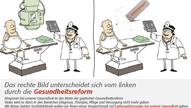 """Ärzte stellen der Politik die """"Rute ins Fenster"""" (Bild: APA/Ärztekammer Wien)"""