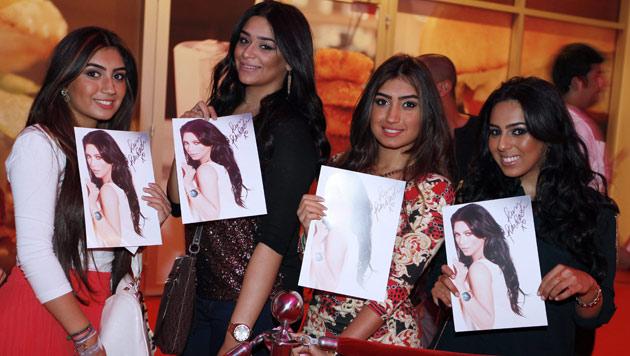 Proteste gegen Kim Kardashian bei Besuch in Bahrain (Bild: EPA)
