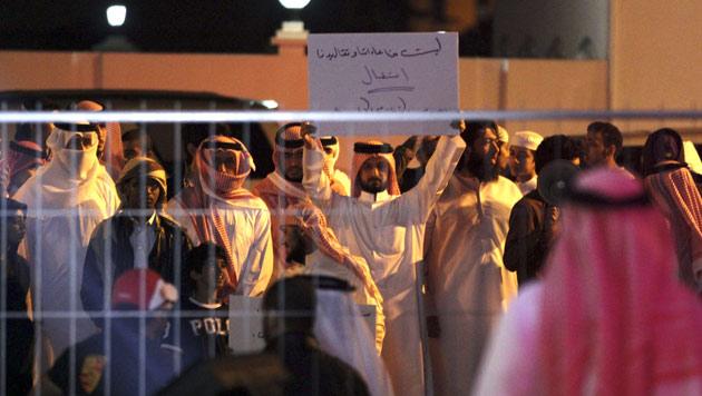 Proteste gegen Kim Kardashian bei Besuch in Bahrain (Bild: dapd)