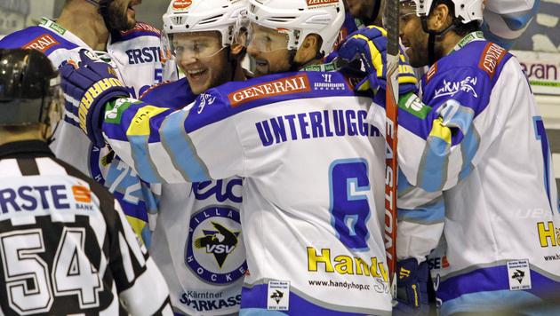 VSV und KAC qualifizieren sich für das Play-off (Bild: APA/GERT EGGENBERGER)