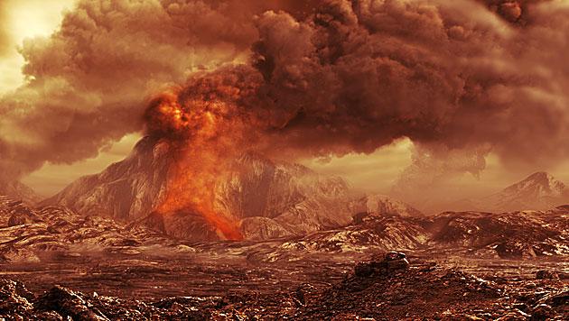 Die unwirtliche Oberfläche des Planeten Venus (Illustration) (Bild: ESA/AOES)