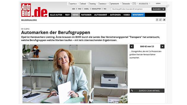 """Deutsche Zeitung macht Maria Fekter zur """"Bürogehilfin"""" (Bild: Facebook)"""