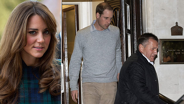 Schwangere Kate weiter im Krankenhaus (Bild: AP, EPA)