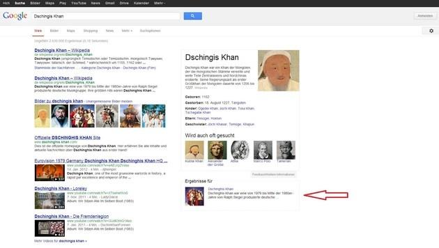 Google macht seine Suche zur Wissens-Datenbank (Bild: Google)