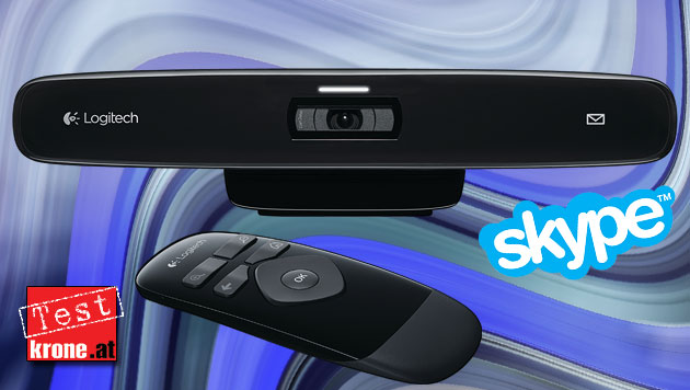 Teurer Spezialist: Logitech TV Cam HD im Test (Bild: Logitech, Skype, krone.at-Grafik)