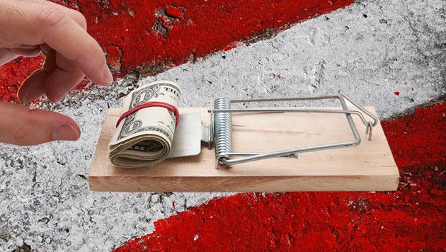 """""""Swap-Falle"""" ist bis zu 8 Milliarden Euro schwer (Bild: thinkstockphotos.de, krone.at-Grafik)"""