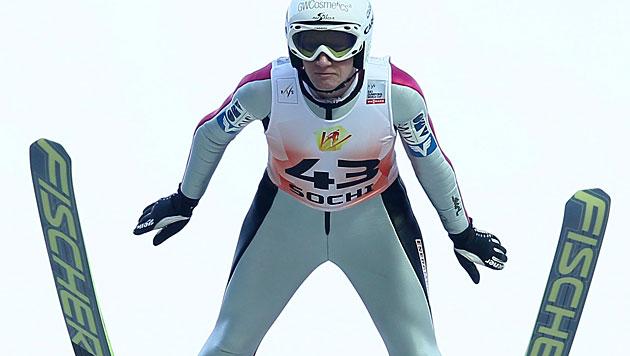 Iraschko gewinnt Generalprobe für Olympia in Sotschi (Bild: EPA)