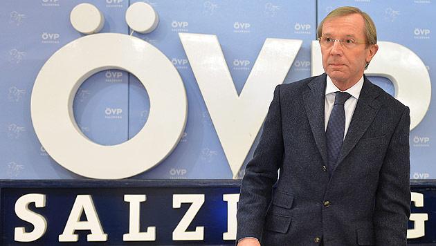 Salzburger ÖVP will vorgezogene Neuwahlen (Bild: APA/BARBARA GINDL)