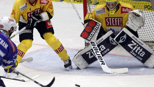 Villach beendet stolze Siegesserie der Capitals (Bild: APA/GERT EGGENBERGER)