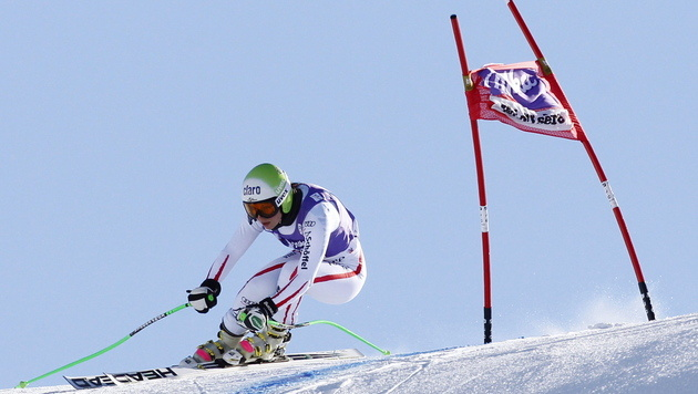 """Anna Fenninger in Val d""""Isere am schnellsten (Bild: EPA)"""