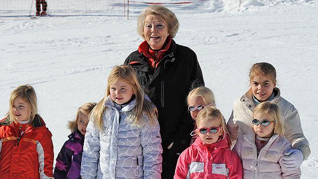 Holländische Royals zum Skiurlaub in Lech eingetroffen (Bild: AP)