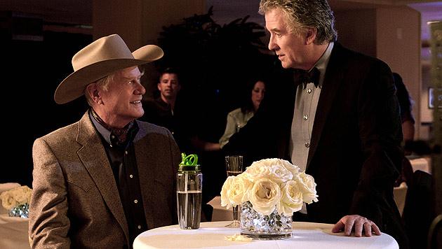 "Larry Hagman bekommt auch bei ""Dallas"" Begräbnis (Bild: dapd)"