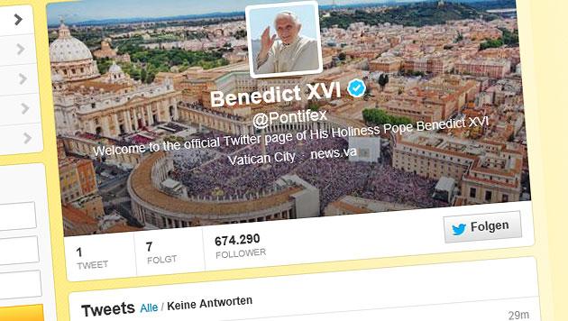 Twitter-Account des Papstes wird vorerst stillgelegt (Bild: twitter.com)