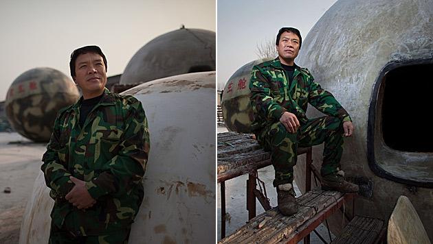 Chinese baut sich Riesenkugel für Weltuntergang (Bild: AFP)