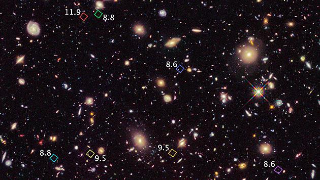 """Hubble""-Teleskop entdeckt sieben neue Galaxien (Bild: NASA)"