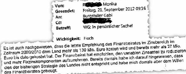 """Salzburg: Mail von Spekulantin bringt LH in Bedr�ngnis (Bild: """"Krone"""")"""