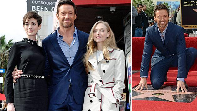 """Hugh Jackman hat Stern auf """"Walk of Fame"""" erhalten (Bild: AP)"""