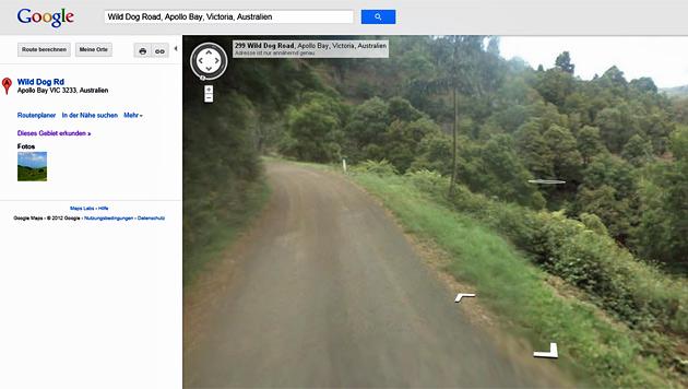 Navigation: Auch Google Maps laut Polizei gef�hrlich (Bild: Screenshot Google Maps)