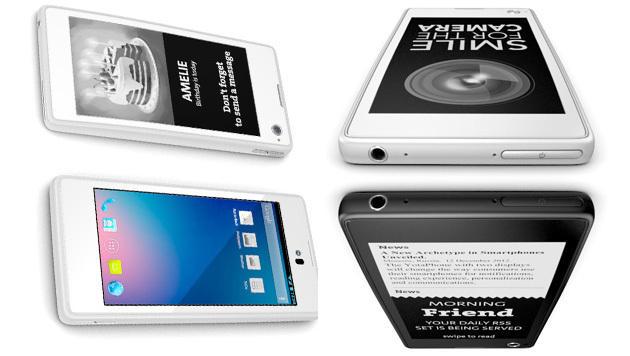 Ost-Smartphone mit praktischem E-Ink-Zweitdisplay (Bild: Yota)