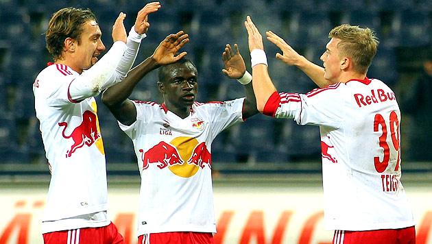 Salzburg schie�t SVM 7:0 ab, Rapid verliert 0:1 (Bild: APA/KRUGFOTO)