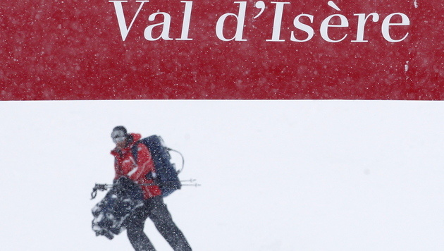 """Super-G der Damen in Val d""""Isere abgesagt (Bild: EPA)"""