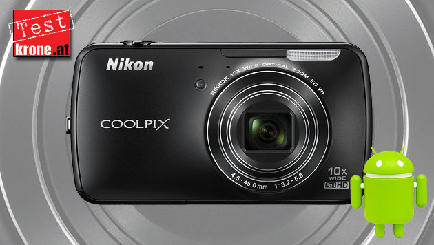 Coolpix S800c: Nikons Android-Debüt im Test (Bild: Nikon, Google, krone.at-Grafik)