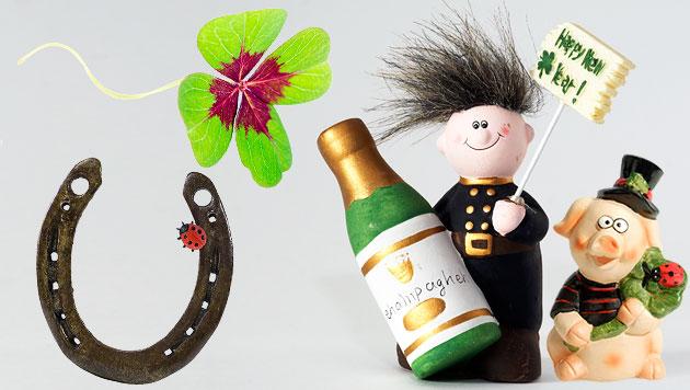 Schwein & Co.: Gl�cksbringer und was sie bedeuten (Bild: thinkstockphotos.de, krone.at-Grafik)