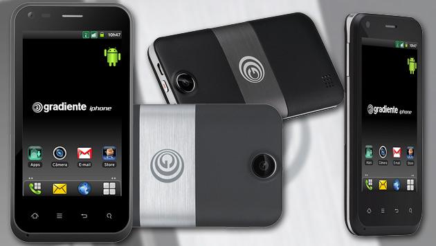 "Brasilien bekommt eigenes ""iPhone"" auf Android-Basis (Bild: gradiente.com.br, krone.at-Grafik)"