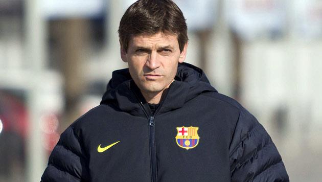 Tito Vilanova laut Klubpräsident bald wieder auf der Bank (Bild: EPA)