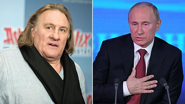 Putin bietet Depardieu offiziell russischen Pass an (Bild: EPA)