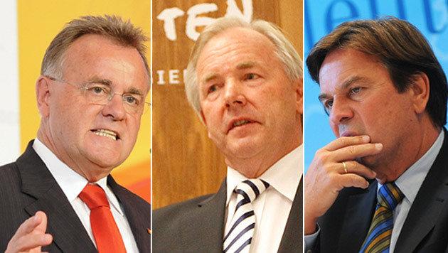 Länder uneins bei der Frage nach Spekulationsverbot (Bild: APA/ANDREAS PESSENLEHNER, GERT EGGENBERGER, BARBARA GINDL)